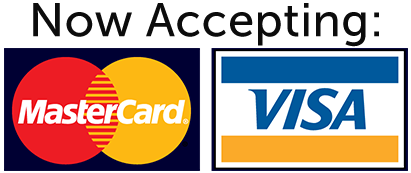accepting visa and mastercard